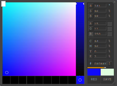 Selector color