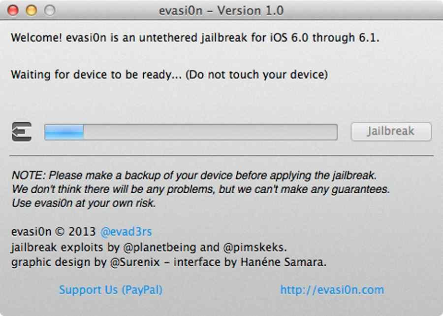 jalibreak iOS6 1