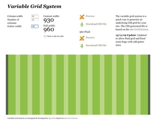 Imagen 960 Grid System